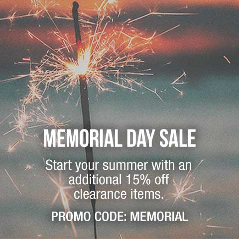 Extra 15% savings on clearance items with promo code memorial